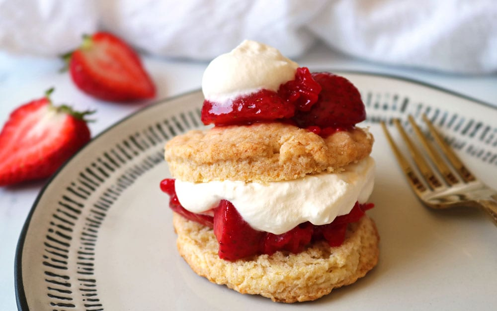 Low Sugar Strawberry Shortcake
