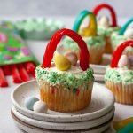 Red Vines Easter Basket Cupcakes