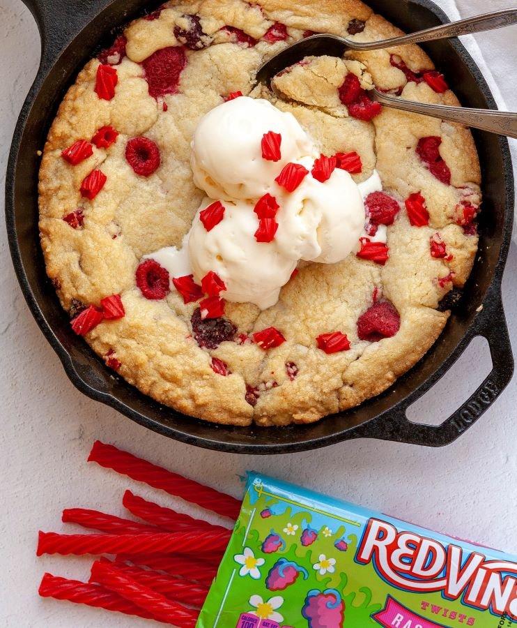 Red Vines Giant Skillet Cookie