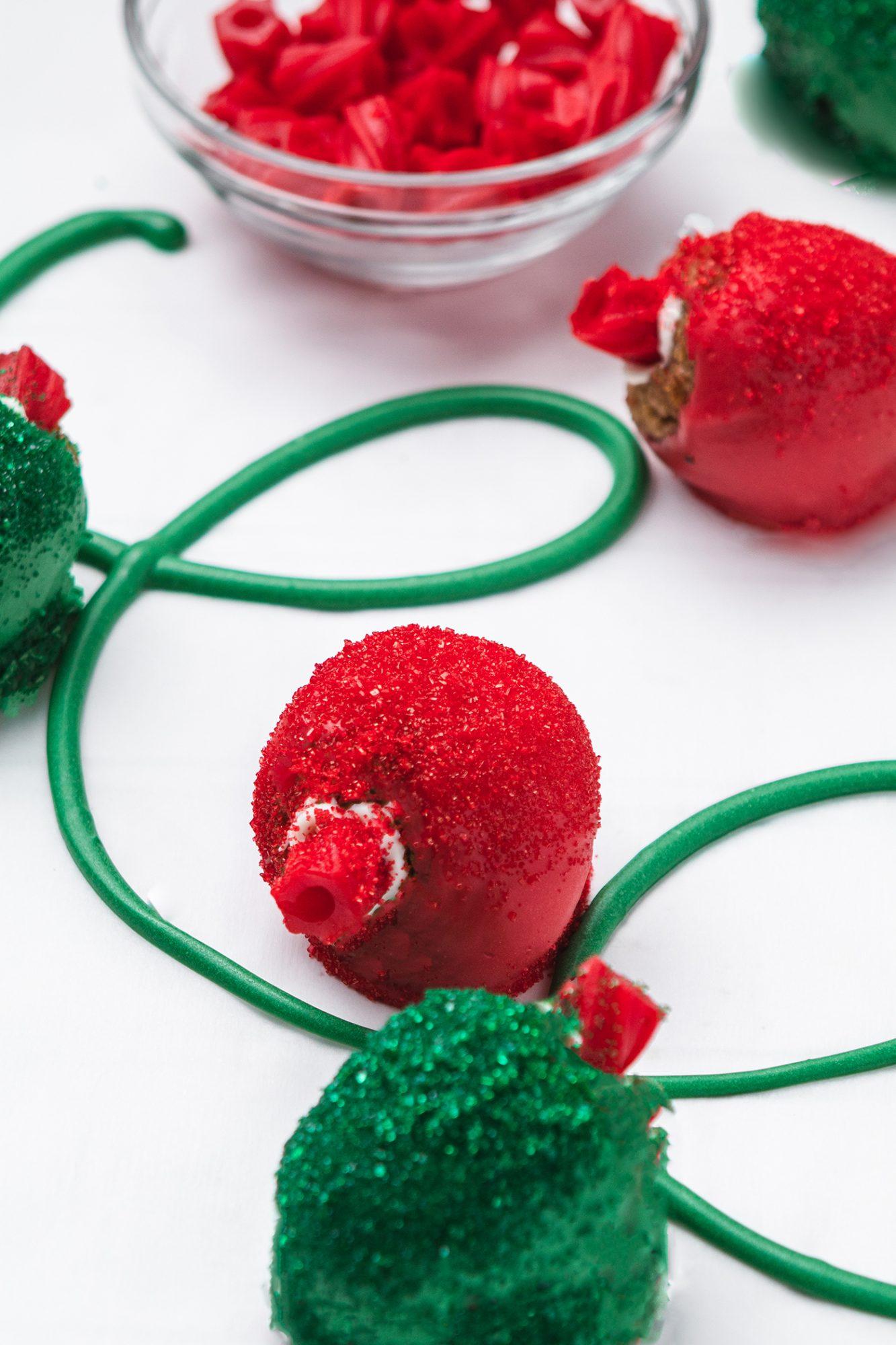 RED VINES String Light Cake Pops