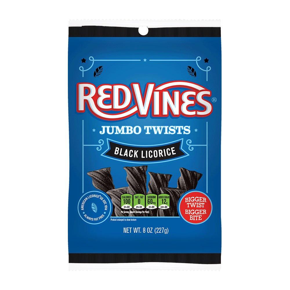 Red Vines Jumbo Black Licorice 8oz bag